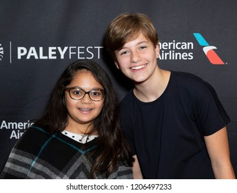 New York, NY - October 18, 2018: Contestants for Top Chef Junior TV Series Nikki Budun and Olivia Bond attend presentation at Paley Center for Media