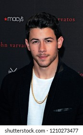 NEW YORK, NY - OCTOBER 19: Singer Nick Jonas attends the launch of the 'JVxNJ' fragrance at Macy's Herald Square on October 19, 2018 in New York City.