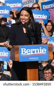 NEW YORK, NY - OCTOBER 19: New York Rep. Alexandria Ocasio-Cortez attends the Bernie's Back Rally in Queensbridge Park on October 19, 2019 in Queens, New York.