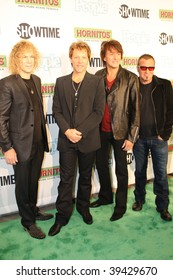 """NEW YORK, NY - OCTOBER 21: Bon Jovi attends the Bon Jovi film """"When we were beautiful"""" premier on October 21, 2009 in New York City."""