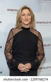 New York, NY - October 22, 2018: Edie Falco wearing dress by Prada attends 2018 Arthur Miller Foundation Honors Gala at City Winery