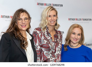 New York, NY - October 22, 2018: Rebecca Miller, Sandi Farkas, Jamie Hastings attend 2018 Arthur Miller Foundation Honors Gala at City Winery