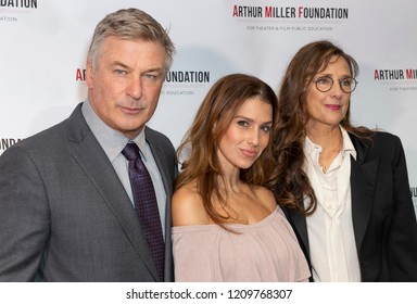 New York, NY - October 22, 2018: Alec Baldwin, Hilaria Baldwin, Rebecca Miller attend 2018 Arthur Miller Foundation Honors Gala at City Winery