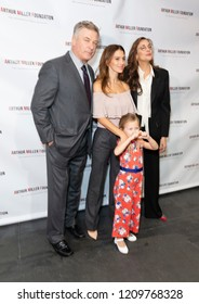 New York, NY - October 22, 2018: Alec Baldwin, Carmen Gabriela Baldwin, Hilaria Baldwin, Rebecca Miller attend 2018 Arthur Miller Foundation Honors Gala at City Winery