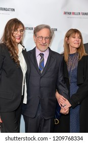 New York, NY - October 22, 2018: Rebecca Miller, Steven Spielberg, Kate Capshaw attend 2018 Arthur Miller Foundation Honors Gala at City Winery