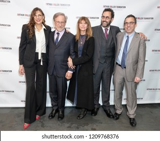 New York, NY - October 22, 2018: Rebecca Miller, Steven Spielberg, Kate Capshaw, Tony Kushner, Mark Harris attend 2018 Arthur Miller Foundation Honors Gala at City Winery