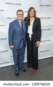 New York, NY - October 22, 2018: Nathan Lane and Rebecca Miller attend 2018 Arthur Miller Foundation Honors Gala at City Winery