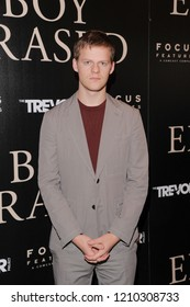 NEW YORK, NY - OCTOBER 22: Actor Lucas Hedges attends the New York screening of 'Boy Erased' at the Whitby Hotel on October 22, 2018 in New York City.