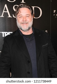 New York, NY - October 22, 2018: Russell Crowe attends the New York screening of Boy Erased at the Whitby Hotel Manhattan