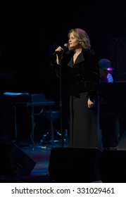 New York, NY - October 22, 2015: Renee Fleming performs during Great NIght in Harlem fundraising concert for Jazz Foundation of America at Apollo theater