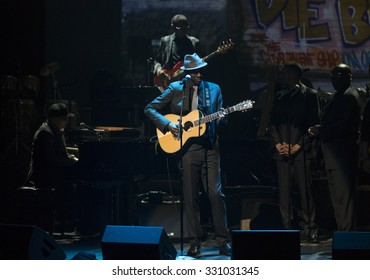 New York, NY - October 22, 2015: Keb Mo performs during Great NIght in Harlem fundraising concert for Jazz Foundation of America at Apollo theater