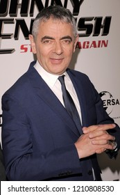 NEW YORK, NY - OCTOBER 23: Actor Rowan Atkinson attends the 'Johnny English Strikes Again' New York Screening at AMC Lincoln Square Theater on October 23, 2018 in New York City.