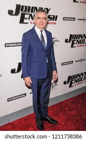 New York, NY - October 23, 2018: Rowan Atkinson attends the Johnny English Strikes Again screening at AMC Lincoln Square Theater