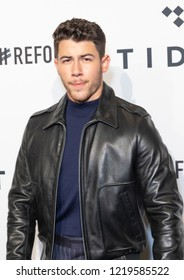 New York, NY - October 23, 2018: Nick Jonas attends the 4th Annual TIDAL X: Brooklyn at Barclays Center