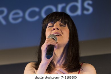 New York, NY - October 24, 2017: Lena Hall performs at NewFest closing night movie screening Becks at Cinepolis Chelsea