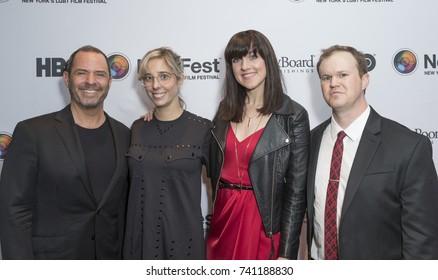 New York, NY - October 24, 2017: Robert Kushner, Elizabeth Rohrbaugh, Lena Hall, Daniel Powell attend NewFest closing night movie screening Becks at Cinepolis Chelsea