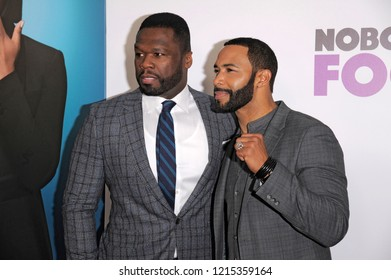 NEW YORK, NY - OCTOBER 28: Curtis '50 Cent' Jackson and Omari Hardwick attend 'Nobody's Fool' New York Premiere at AMC Lincoln Square Theater on October 28, 2018 in New York City.