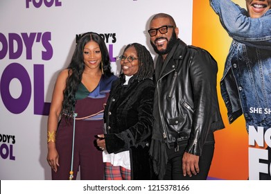 NEW YORK, NY - OCTOBER 28: Tiffany Haddish, Whoopie Goldberg and Tyler Perry attend 'Nobody's Fool' New York Premiere at AMC Lincoln Square Theater on October 28, 2018 in New York City.