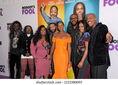 NEW YORK, NY - OCTOBER 28: (L-R) Tyler Perry and cast attend the world premiere of 'Nobody's Fool' at AMC