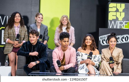 New York, NY - October 5, 2018: Marvel's Runaways crew and cast attend live stage during New York Comic Con at Jacob Javits Center