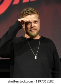 New York, NY - October 6, 2018: Elden Henson attends Marvel's DAREDEVIL panel during New York Comic Con at Hulu Theater at Madison Square Garden
