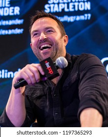 New York, NY - October 6, 2018: Sullivan Stapleton attends panel for NBC series Blindspot during New York Comic Con at Jacob Javits Center