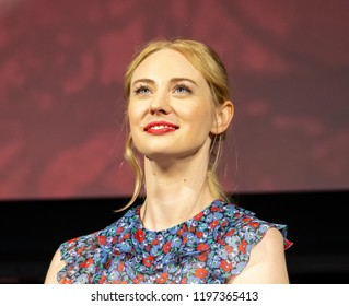 New York, NY - October 6, 2018: Deborah Ann Woll attends Marvel's DAREDEVIL panel during New York Comic Con at Hulu Theater at Madison Square Garden