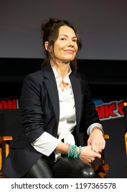 New York, NY - October 6, 2018: Joanne Whalley attends Marvel's DAREDEVIL panel during New York Comic Con at Hulu Theater at Madison Square Garden