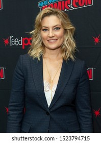 New York, NY - October 6, 2019: Mädchen Amick attends presser for Riverdale series by Warner Brothers during New York Comic Con at Jacob Javits Center