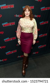 New York, NY - October 6, 2019: Molly Ringwald attends presser for Riverdale series by Warner Brothers during New York Comic Con at Jacob Javits Center