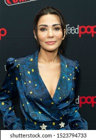 New York, NY - October 6, 2019: Marisol Nichols attends presser for Riverdale series by Warner Brothers during New York Comic Con at Jacob Javits Center