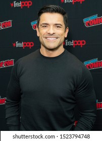 New York, NY - October 6, 2019: Mark Consuelos attends presser for Riverdale series by Warner Brothers during New York Comic Con at Jacob Javits Center