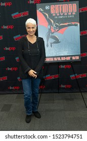 New York, NY - October 6, 2019: Andrea Romano attends presser for Batman Beyond 20th Anniversary by Warner Brothers during New York Comic Con at Jacob Javits Center
