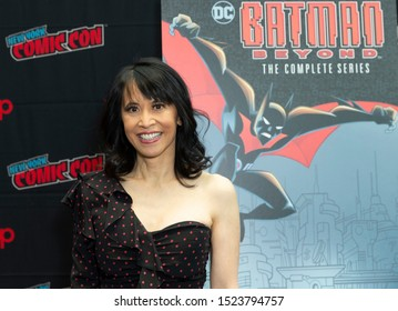 New York, NY - October 6, 2019: Lauren Tom attends presser for Batman Beyond 20th Anniversary by Warner Brothers during New York Comic Con at Jacob Javits Center
