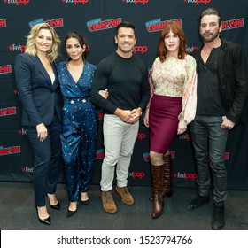 New York, NY - October 6, 2019: Cast attends presser for Riverdale series by Warner Brothers during New York Comic Con at Jacob Javits Center