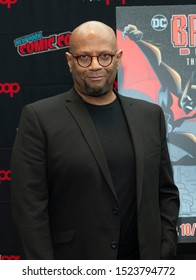New York, NY - October 6, 2019: James Tucker attends presser for Batman Beyond 20th Anniversary by Warner Brothers during New York Comic Con at Jacob Javits Center