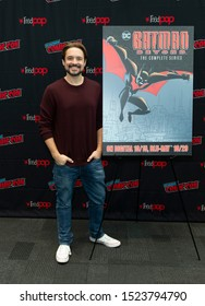 New York, NY - October 6, 2019: Will Friedle attends presser for Batman Beyond 20th Anniversary by Warner Brothers during New York Comic Con at Jacob Javits Center
