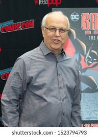 New York, NY - October 6, 2019: Alan Burnett attends presser for Batman Beyond 20th Anniversary by Warner Brothers during New York Comic Con at Jacob Javits Center
