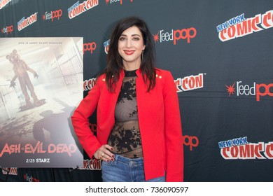 New York, NY - October 7, 2017: Dana DeLorenzo of Starz's Ash vs. Evil Dead arrives at Comic Con 2017 in New York, NY