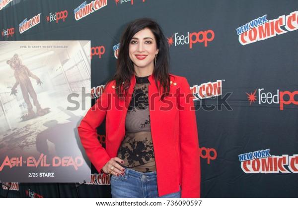 New York, NY - October 7, 2017: Dana DeLorenzo of Starz's Ash vs. Evil Dead arrives at Comic Con 2017 in New York, NY