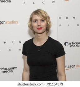 New York, NY - October 9, 2017: Chelsea Manning attends Human Flow special screening at The Whitby hotel