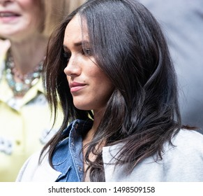 New York, NY - Sep 7, 2019: Duchess of Sussex Meghan Markle attends womens final at US Open Championships between Serena Williams (USA) & Bianca Andreescu (Canada) at Billie Jean King Tennis Center