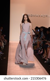 NEW YORK, NY - SEPTEMBER 04: A model walks the runway at BCBGMAXAZRIA during Mercedes-Benz Fashion Week Spring 2015 on September 4, 2014 in New York City.