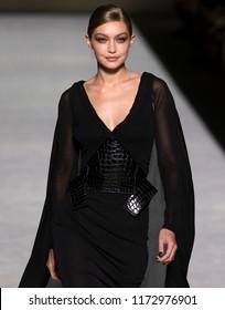 NEW YORK, NY - September 05, 2018: Gigi Hadid walks the runway at the Tom Ford Spring Summer 2019 fashion show during New York Fashion Week