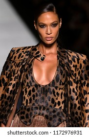 NEW YORK, NY - September 05, 2018: Joan Smalls walks the runway at the Tom Ford Spring Summer 2019 fashion show during New York Fashion Week