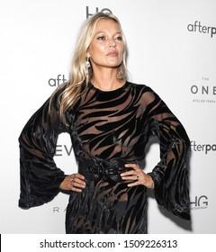 NEW YORK, NY - September 05, 2019: Kate Moss attends The Daily Front Row's 7th annual Fashion Media Awards at The Rainbow Room
