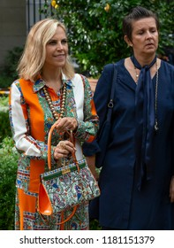 NEW YORK, NY - September 07, 2018: Designer Tory Burch poses before the Tory Burch Spring Summer 2019 fashion show during New York Fashion Week