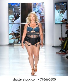 NEW YORK, NY - September 08, 2017: Emme Miller walks the runway at the Chromat Spring Summer 2018 fashion show during New York Fashion Week
