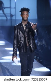 NEW YORK, NY - SEPTEMBER 09: 21 Savage walks the runway at the Philipp Plein fashion show during New York Fashion Week: The Shows at Hammerstein Ballroom on September 9, 2017 in New York City.