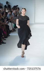 NEW YORK, NY - SEPTEMBER 09: A model walks the runway at the Christian Siriano fashion show during New York Fashion Week on September 9, 2017 in New York City.